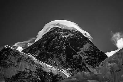 Photograph - Storm On Everest by Owen Weber
