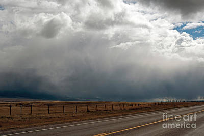 Photograph - Storm On Route 287 N Of Ennis Mt by Cindy Murphy - NightVisions