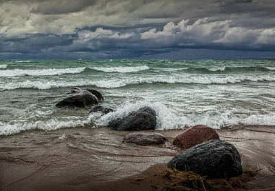 Photograph - Storm On Sturgeon Bay by Randall Nyhof