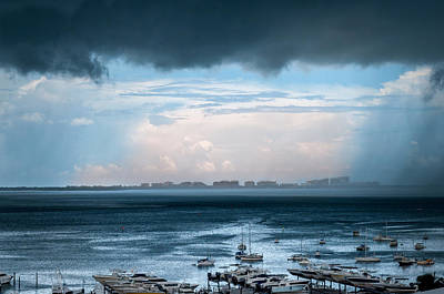 Photograph - Storm On The Bay 2 by Frank Mari