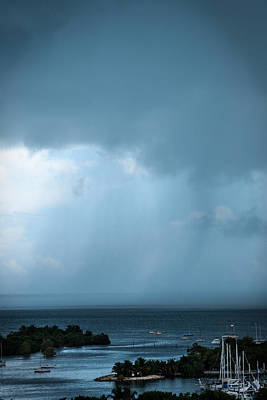 Photograph - Storm On The Bay by Frank Mari