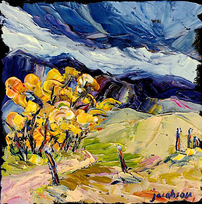 Painting - Storm On The Big Hole by Carrie Jacobson