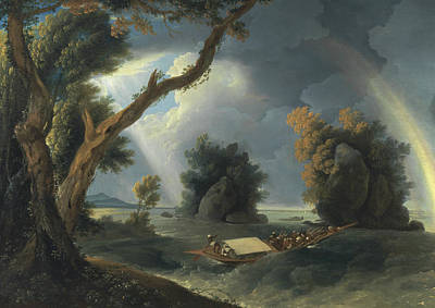 Painting - Storm On The Ganges, With Mrs. Hastings Near The Col-gon Rocks by Treasury Classics Art