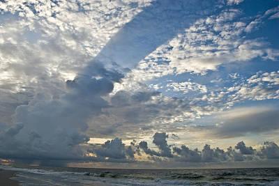 Storm On The Gulf Art Print by Jennifer Kelly