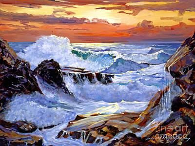 Storm On The Irish Coast Art Print by David Lloyd Glover