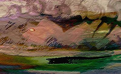 Mixed Media - Storm On The Mountain by Lenore Senior