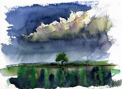 John Benson Painting - Storm On The Plain by John D Benson