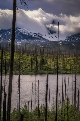 Art Print featuring the photograph Storm On Three Fingered Jack by Cat Connor
