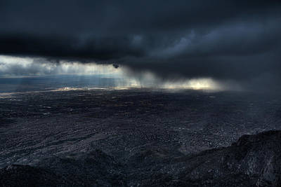 Thunderstorm Photograph - Storm Over Alburquerque by Max Witjes