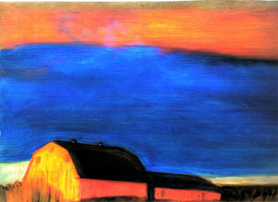 storm over Aroostook Maine Art Print by FeatherStone Studio Julie A Miller