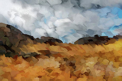 Storm Over Autumn Abstract Realism Grunge Art Print