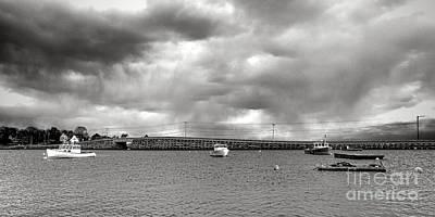 Storm Over Bailey Island Art Print