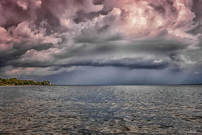 Photograph - Storm Over Bay by Debra Forand