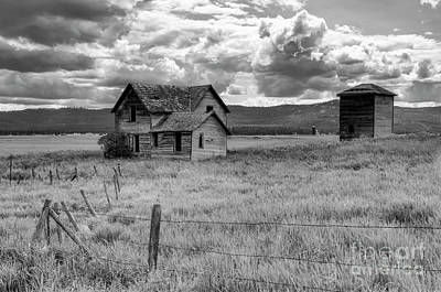 Out West Photograph - Storm Over Big Sky Montana by Sandra Bronstein