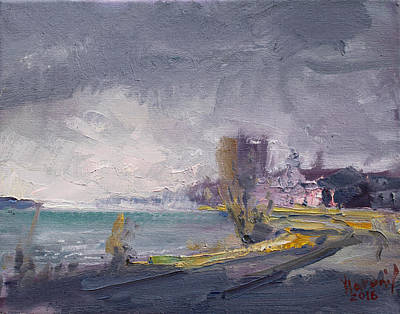 Rainy Day Painting - Storm Over Buffalo River  by Ylli Haruni