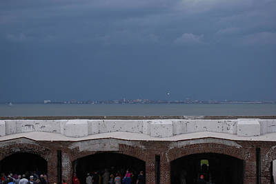 Photograph - Storm Over Charleston From Fort Sumter by Gordon Mooneyhan