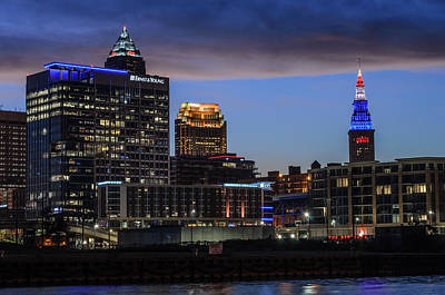 Photograph - Storm Over Cleveland by Stewart Helberg