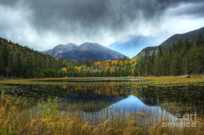 Storm Over Cub Lake Art Print