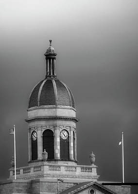 Cloud Photograph - Storm Over Dome In Black And White by Greg Mimbs