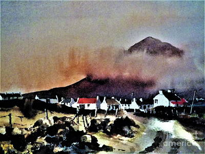 Painting - Storm Over Dugort, Achill....163 by Val Byrne