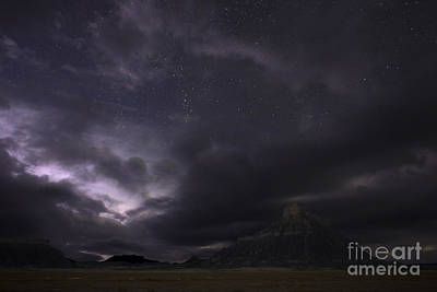 Photograph - Storm Over Factory Butte by Keith Kapple
