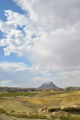 Photograph - Storm Over Factory Butte by Ray Mathis