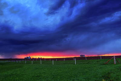 Photograph - Storm Over Farm Country by Dale Kauzlaric