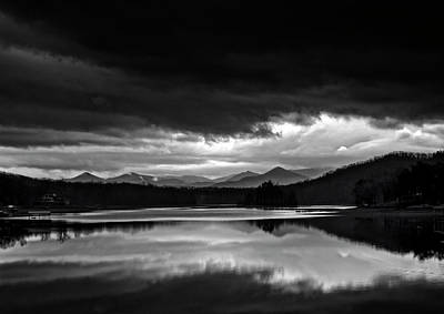 Photograph - Storm Over Lake Chatuge In Black And White by Greg Mimbs