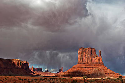 Photograph - Storm Over Monument Valley by Wesley Aston