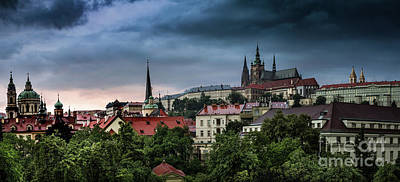 Photograph - Prague Castle Storm by M G Whittingham