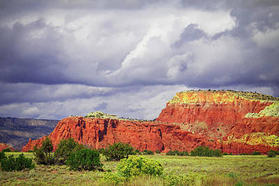 Photograph - Storm Over Red Mountains by Steven Bateson