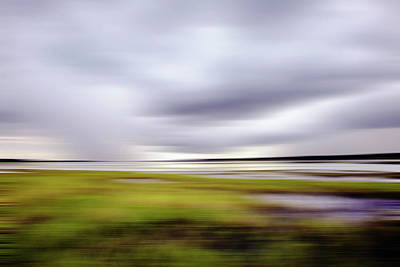 Storm Over River Art Print by Skip Nall