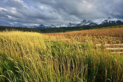 Photograph - Storm Over San Juans From Last Dollar Road by Ray Mathis