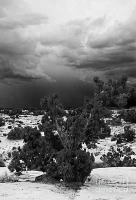 Storm Over Sand Bench Utah Art Print by John Hermann