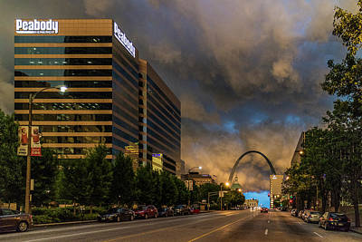 Photograph - Storm Over St Louis And The Arch by Garry McMichael