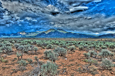 Photograph - Storm Over Taos Mountain by Charles Muhle