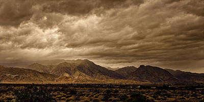 Photograph - Storm Over The Borrego Valley by Peter Tellone