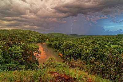 Photograph - Storm Over The Current River by Robert Charity
