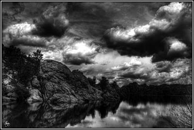 Photograph - Storm Over The Dells Monochrome by Wayne King