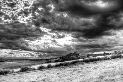 David Bowie Royalty Free Images - Storm Over The Hill Royalty-Free Image by David Pyatt