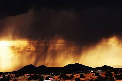 Storm Over The Mountains Art Print by Joseph Frank Baraba