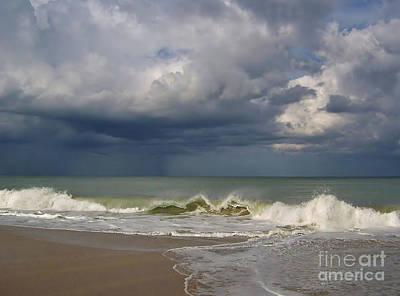 Lightning D Photograph - Storm Over The Ocean by D Hackett