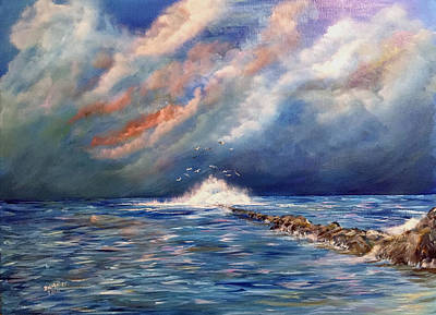 Painting - Storm Over The Ocean by Dorothy Maier