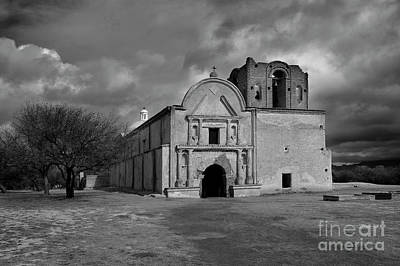 Art Print featuring the photograph Storm Over Tumacacori II by Sandra Bronstein