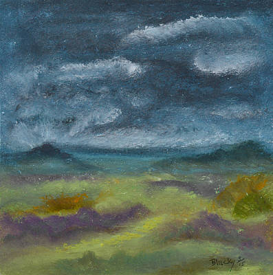Pastel - Storm Over Yonder Sea by Donna Blackhall