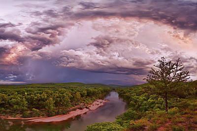 Photograph - Storm Pass Over The Current River by Robert Charity