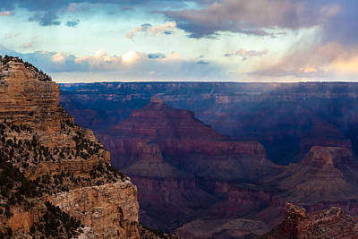 Photograph - Storm Passes The Grand Canyon by Ed Gleichman