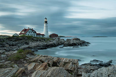 Photograph - Storm Passing At Portland Head Light by Jesse MacDonald