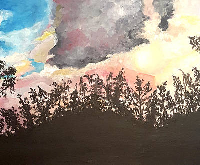 Painting - Storm Passing Through by Donna Cervelli