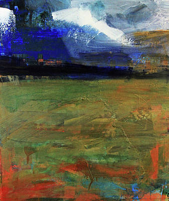 Painting - Storm Prelude Left Panel by Walter Fahmy